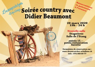 Soirée Country avec Didier Beaumont @ Salle de l'Etang | Etagnières | Vaud | Suisse